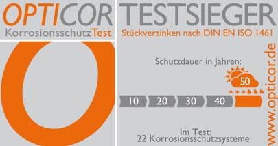 OPTICOR-Korrosionsschutz Testsieger Icon